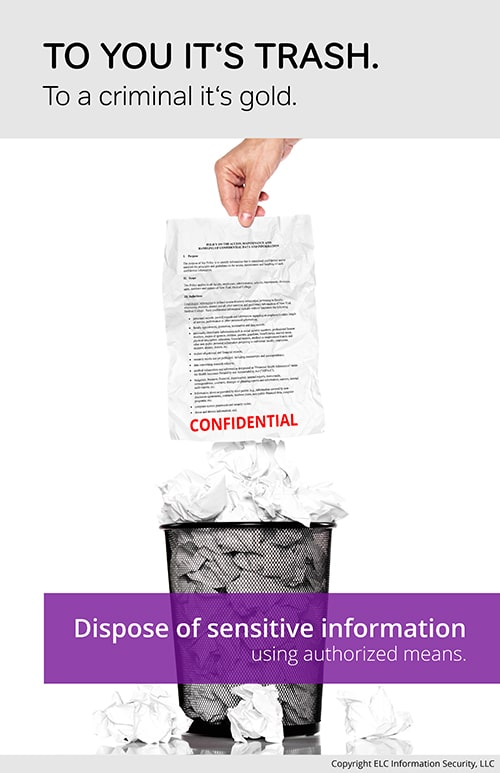 Security Awareness Poster | 105 data destruction security poster
