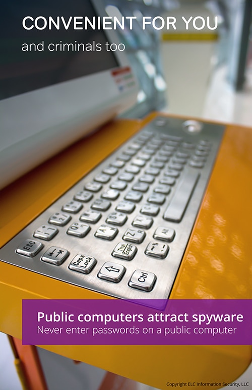 Security Awareness Poster | 109 public computers security poster