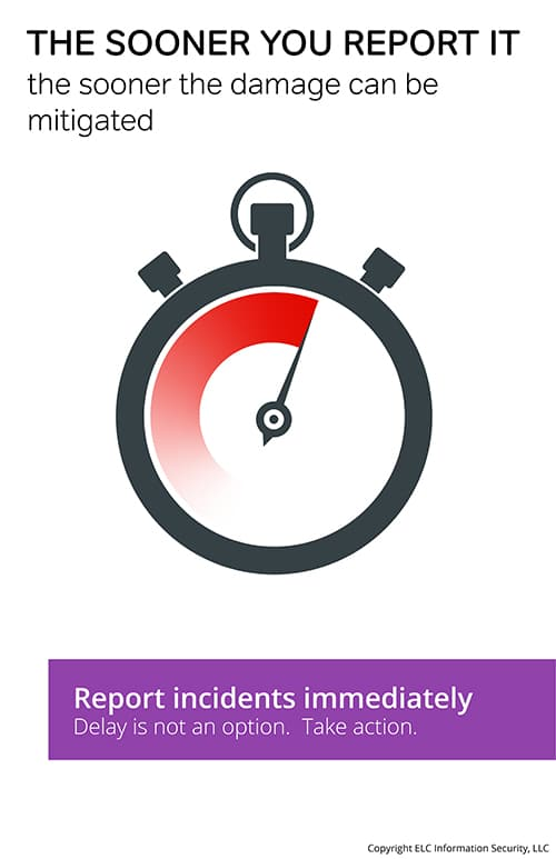 Security Awareness Poster | 115 reporting incidents poster
