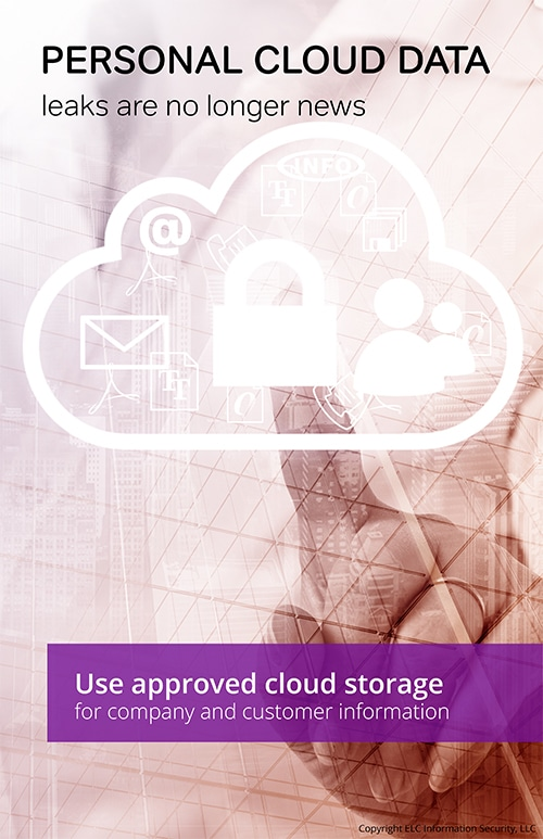 Employee Security Awareness Poster | 118 personal cloud storage