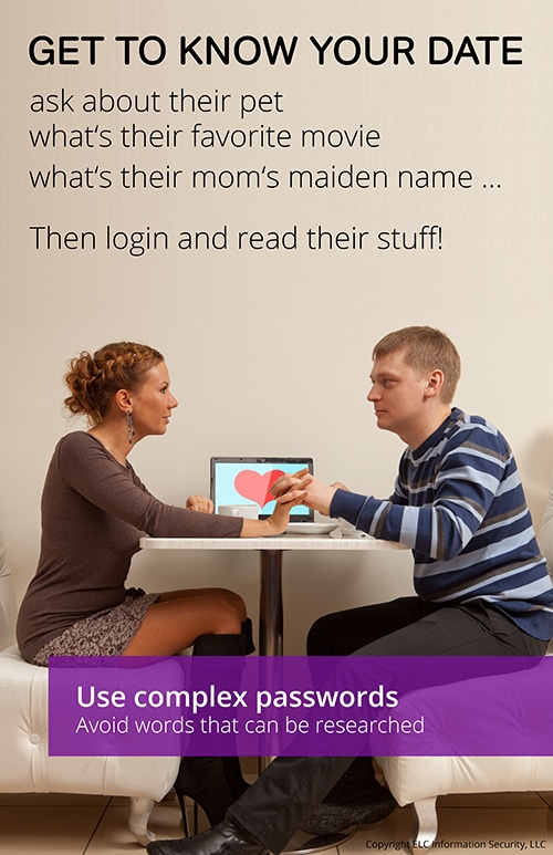 Security Awareness Poster | 119 passwords and social media