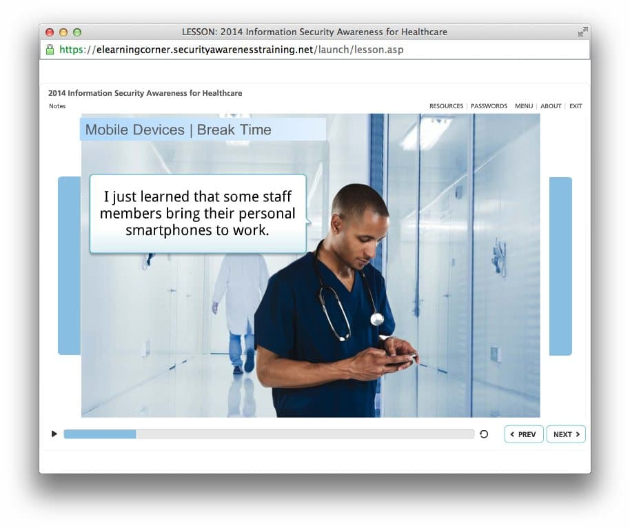 Information Security Awarenss Training For Healthcare Screen Shot