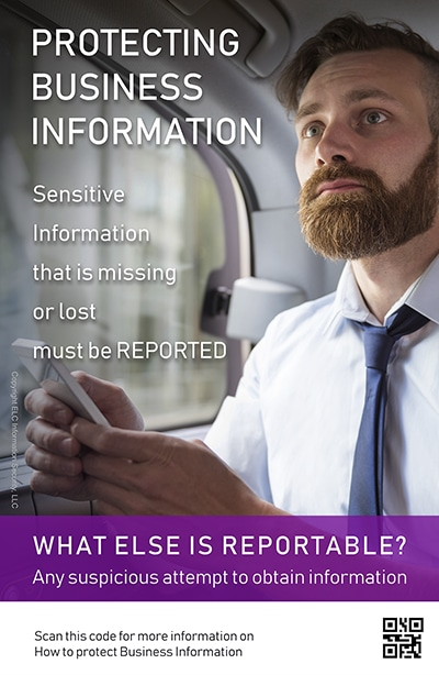 Security Awareness Poster Microtraining | 202 Protecting Business Information