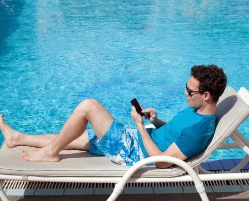 Hotel pool wifi